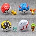 Throw Bounce Pokeball Pokenmons Pikachu Anime Action Figures Children Elf Go Toys 2016 Kids Action Figure Toys Robot
