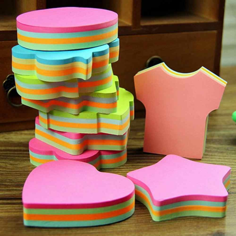 100 Halaman Multicolor Sticky Notes Lucu Kantor Cinta Memo Bantalan Sticker Bookmark Marker Flags Stiker Planner Briefpapier