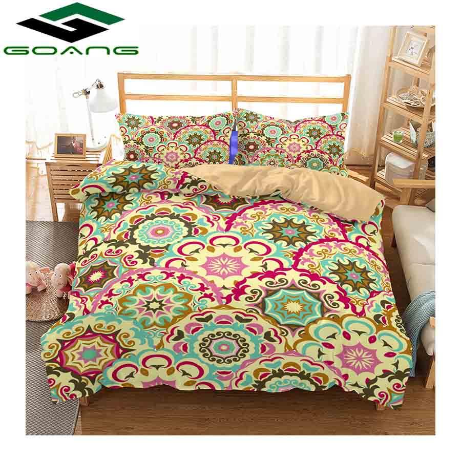 GOANG 3d Digital Printing Mandala Bedding Set Europe And America New Design Duvet Cover Set With Pillowcase Home Textile