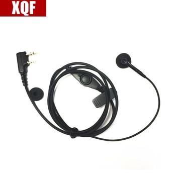 XQF 10PCS K Port Durable Ear Hook Earphone Earpiece /MIC With PTT For Kenwood BAOFENG UV-5r Two Way Radio