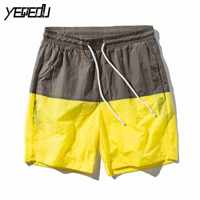 #3706 2018 Patchwork color Elatic waist Quick-dry Couple clothes Casual Boardshorts Beach shorts men Fashion Plus size shorts