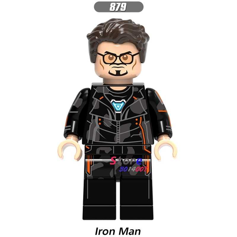 1 adet modeli yapı taşı eylem süper kahramanlar demir adam klasik koleksiyonu serisi bebekler diy oyuncaklar çocuklar için hediye
