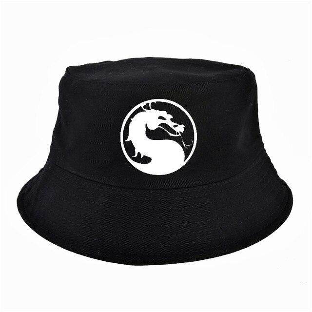 مورتال كومبات قبعة الأزياء الصيد Boonie قبعة بحافة للجنسين الصيد القطن عطلة السفر بسيط الرجال النساء قناع التخييم الصيف f
