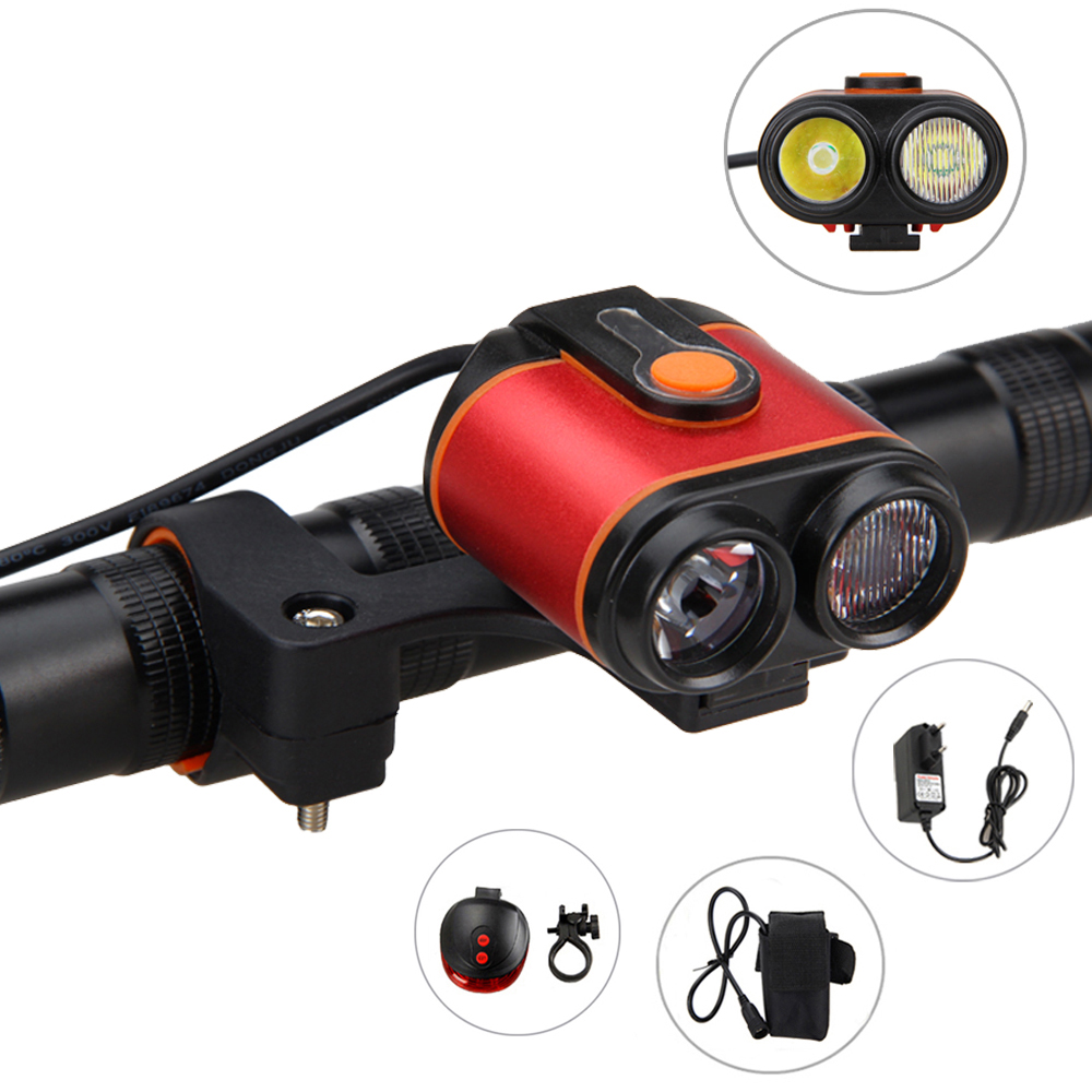 Rechargeable 8.4V 10000LM USB 2X XM-L2 LED Bicycle light 4 mode Torch Light