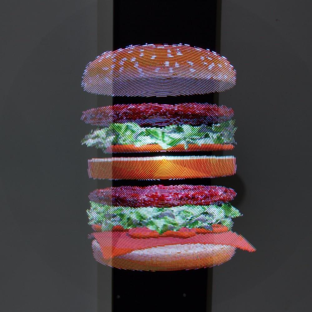3D Hologram Advertising Display LED Fan Holographic Imaging 3D Naked Eye LED Fan Light