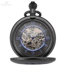 KS WATCH Vintage IP Hand Winding Mechanical Pocket Watch