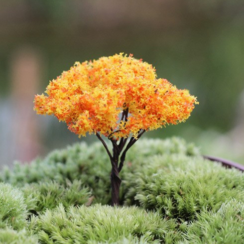 Künstliche Mini Baum Pflanzen Fee Garten Miniaturen Mini Gnomes Moos