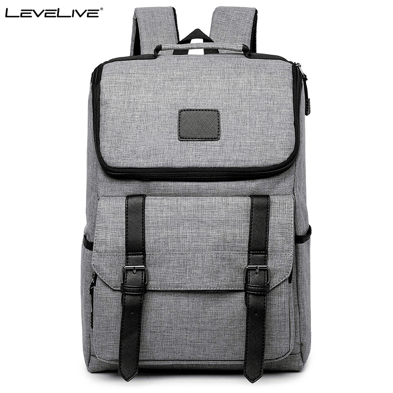 LeveLive Short Travel Backpack Men Women 15.6 Laptop Backpack Schoolbags for Teenagers School Bags Male Female Mochilas Bagpack cartoon pikachu school bags backpack children schoolbags for teenagers boys