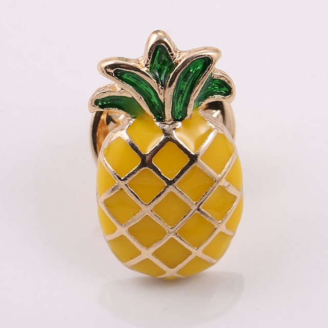 fashion jewelry accessories cute epoxy anchor guitar  palm tree pineapple brooches pins for women