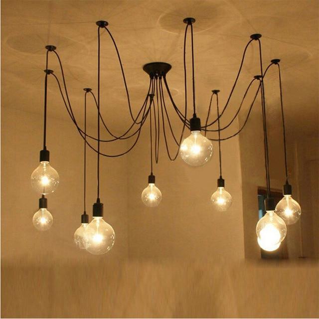 Nordic Vintage Chandelier Lamp Pendant Lamps E27 E26 Edison Creative Loft Art Decorative Light Chandeliers