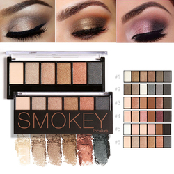 FOCALLURE New Eyeshadow Palette Matte Glitter Eyeshadow Pro 6 Colors Focallure Shimmer Smokey Eye Shadow Palette Makeup TSLM1