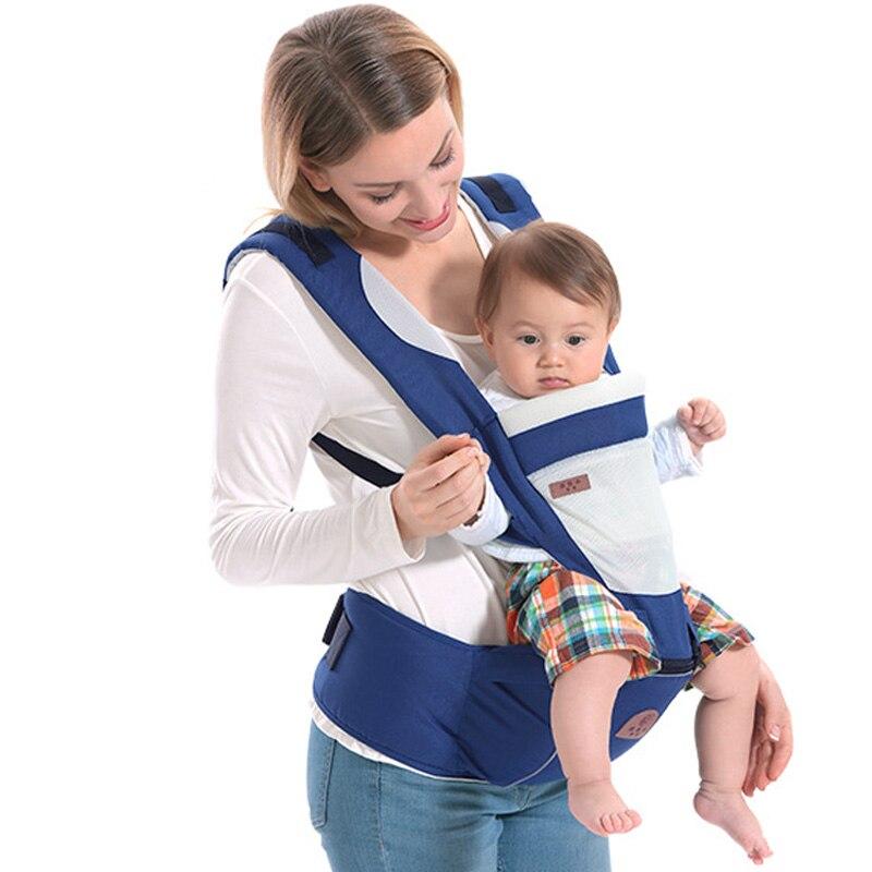 Porte-bébé respirant pour 0-48 m bébé en bas âge ergonomique porte-bébé sac à dos avec capuche nouveau-né Wrap taille tabouret ceinture