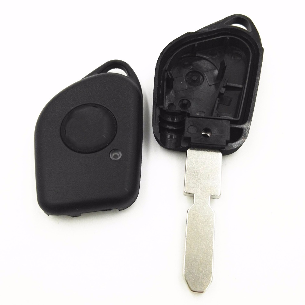 Replacement 1 One Button Car Blank <font><b>Key</b></font> Housing Fit For Refit <font><b>Peugeot</b></font> 406 <font><b>408</b></font> 4006 <font><b>Key</b></font> Shell With Hole <font><b>Key</b></font> Remote Case Cover Fob image