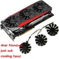 Gpu VGA Cooler Graphics Gtx1080 Gtx980ti Gtx1060 Gtx1070 Fan For ASUS STRIX GTX 1080 980Ti 1060