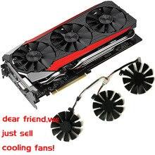 GPU VGA Cooler графика GTX1080 gtx980ti gtx1060 gtx1070 вентилятор для ASUS strix GTX 1080/980Ti/1060/1070 видео карты система охлаждения