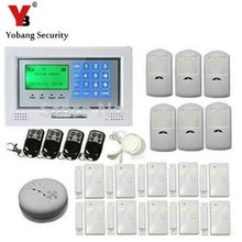 YobangSecurity Wi-fi Residence Safety Alarm System DIY Package with Auto Dial Pir Movement,Glass Sensor for Enterprise and Residence Safety