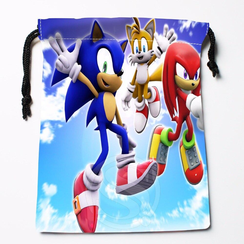 Fl-Q107 New Sonic #8 Custom Printed  Receive Bag  Bag Compression Type Drawstring Bags Size 18X22cm 711-#Fl107