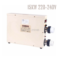 Free Shipping 15KW220 240V50HZ swimming pool heater SPA heater with CE, 1 year guarantee. stable working performance