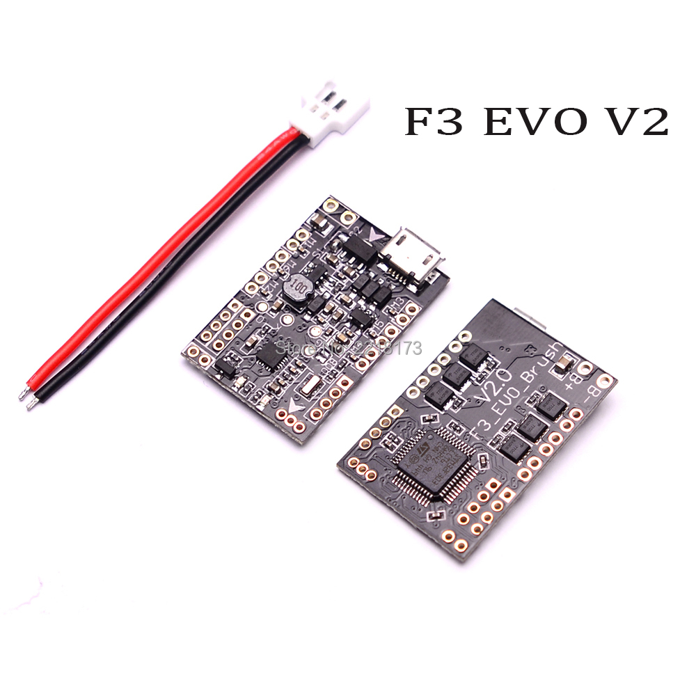 SP RACING F3 EVO V2.0 Brush Flight Control Board For ELF 88 90mm 120mm FPV Micro Quadcopters Better than Scisky 32bits high quality micro scisky 1s 32 bits brushed flight control board naze 32 for quadcopter accessories