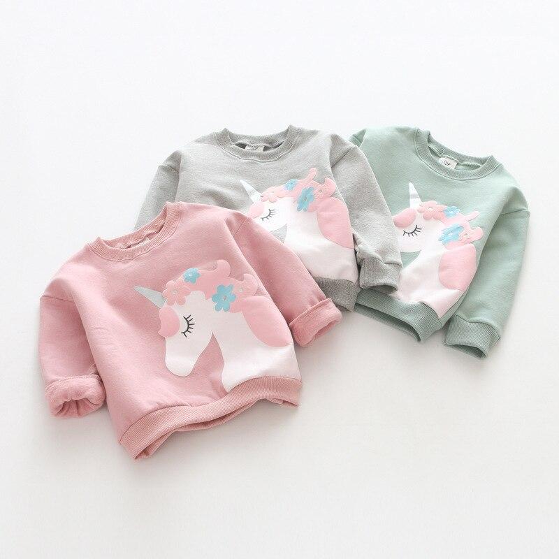 Pullover Sweatshirts Unparteiisch Zbaiyh Frühling Neue Babykleidung Oansatz Langarmshirts Einhorn Sweatshirt Casual Kinder Kleidung Casual Baumwolle Pullover StraßEnpreis