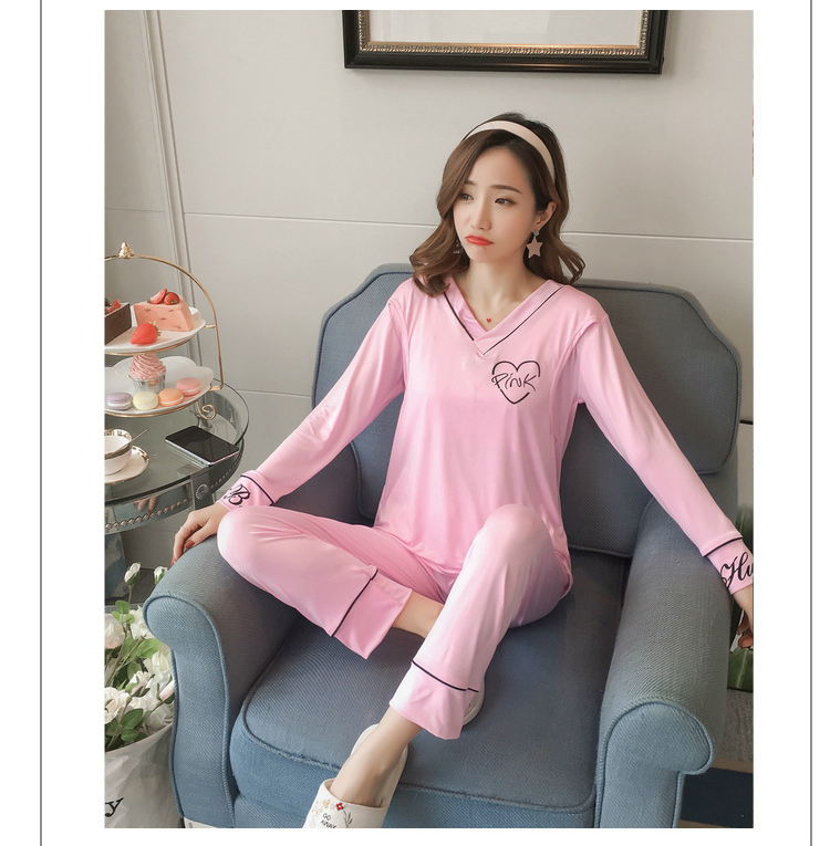 Mulheres Grávidas a Maternidade Pijamas roupa Rosa