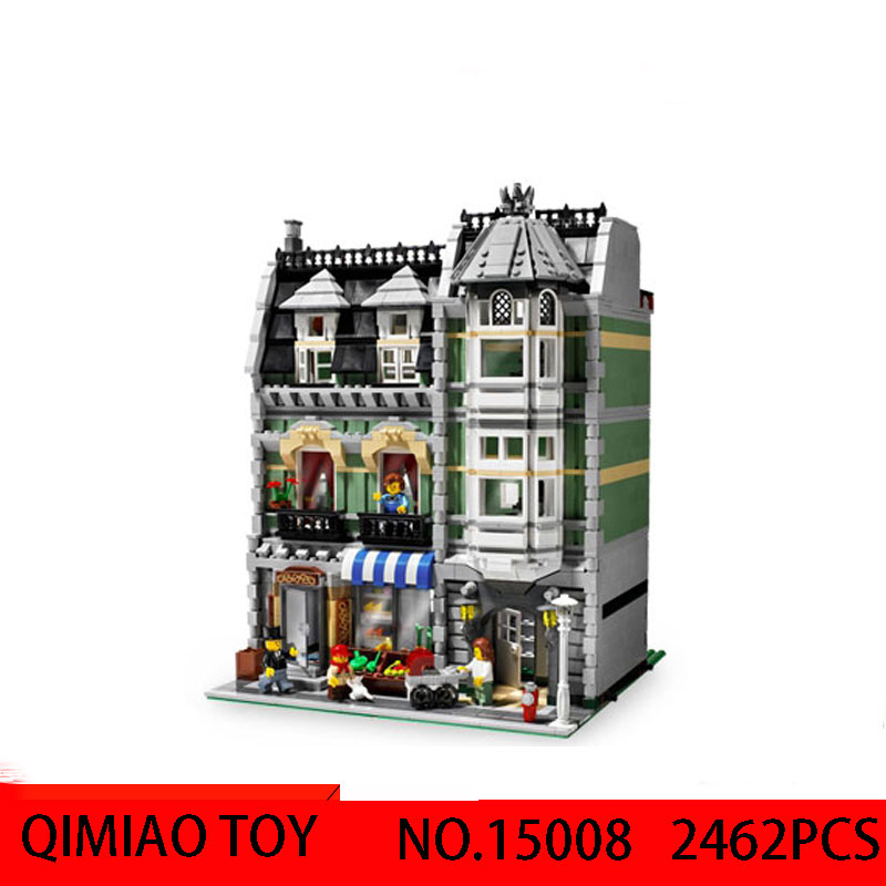 LEPIN15008 Street series out of print engraved green groceries assembled spell plug blocks educational toy Compatible 10185 toys new 10002 street creative series naruto of green grocery send board one piece ship box for toys
