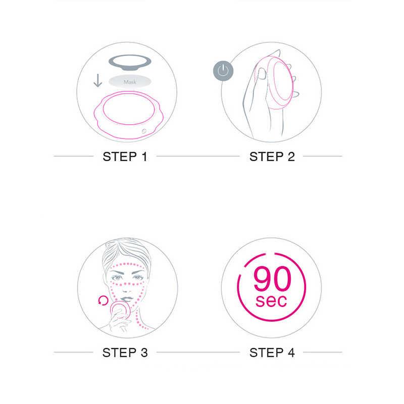 Smart Masker Wajah Alat Sonic Getaran Panas/Dingin Lampu LED Terapi Perbaikan Anti Jerawat Kerut Perawatan Wajah Massager