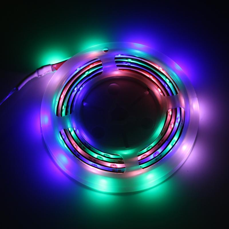 Светодиодные ленты Водонепроницаемый 2 м 60led DC 3 В Батарея питание полосы света гибкий свет ленты Клейкие ленты неоновый Клейкие ленты Декор ...