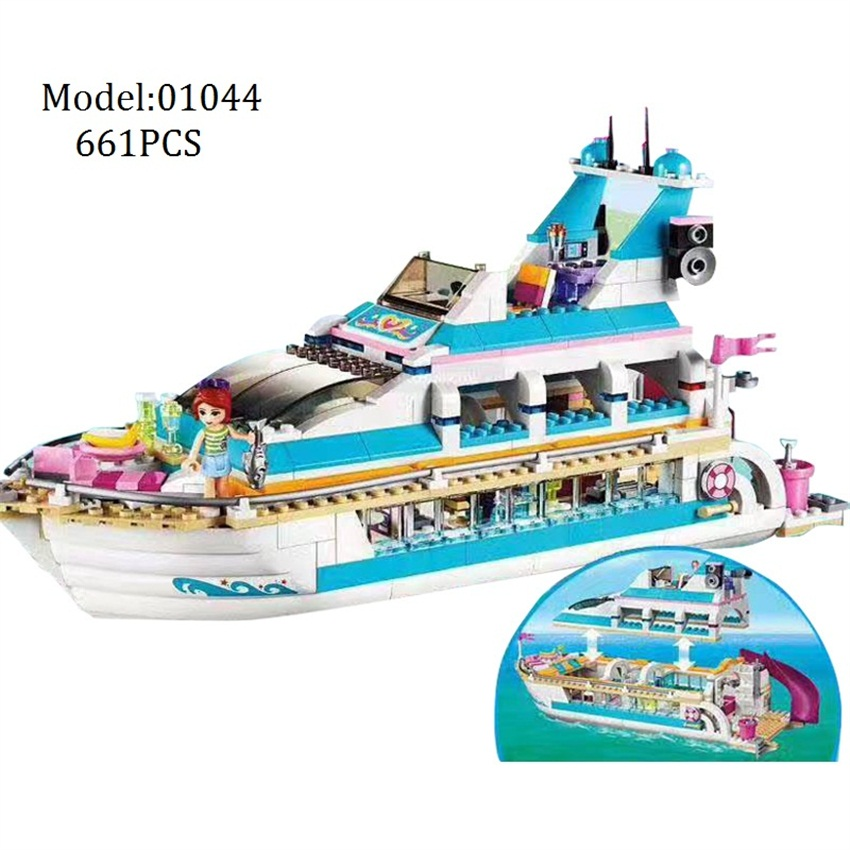 Lepin DIY Building blocks Girls Friends Series brinquedos yacht Compatible Girl gifts Boat Educational Toy for Children 01044 building blocks stick diy lepin toy plastic intelligence magic sticks toy creativity educational learningtoys for children gift page 2