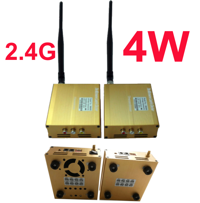 4W cctv transmitter 2 4G Wireless video audio transceiver FPV Transmitter font b drone b font