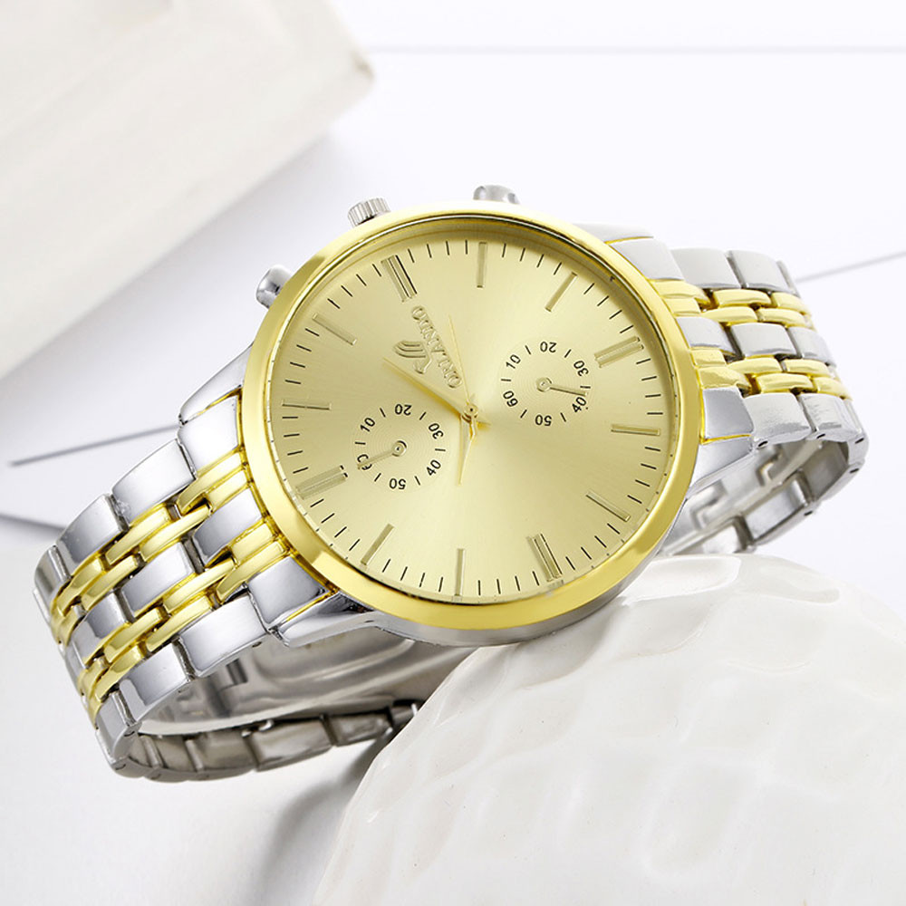 Wristwatch Men Business Analog-Quartz Stainless-Steel Gold Classics Men's Fashion Luxury
