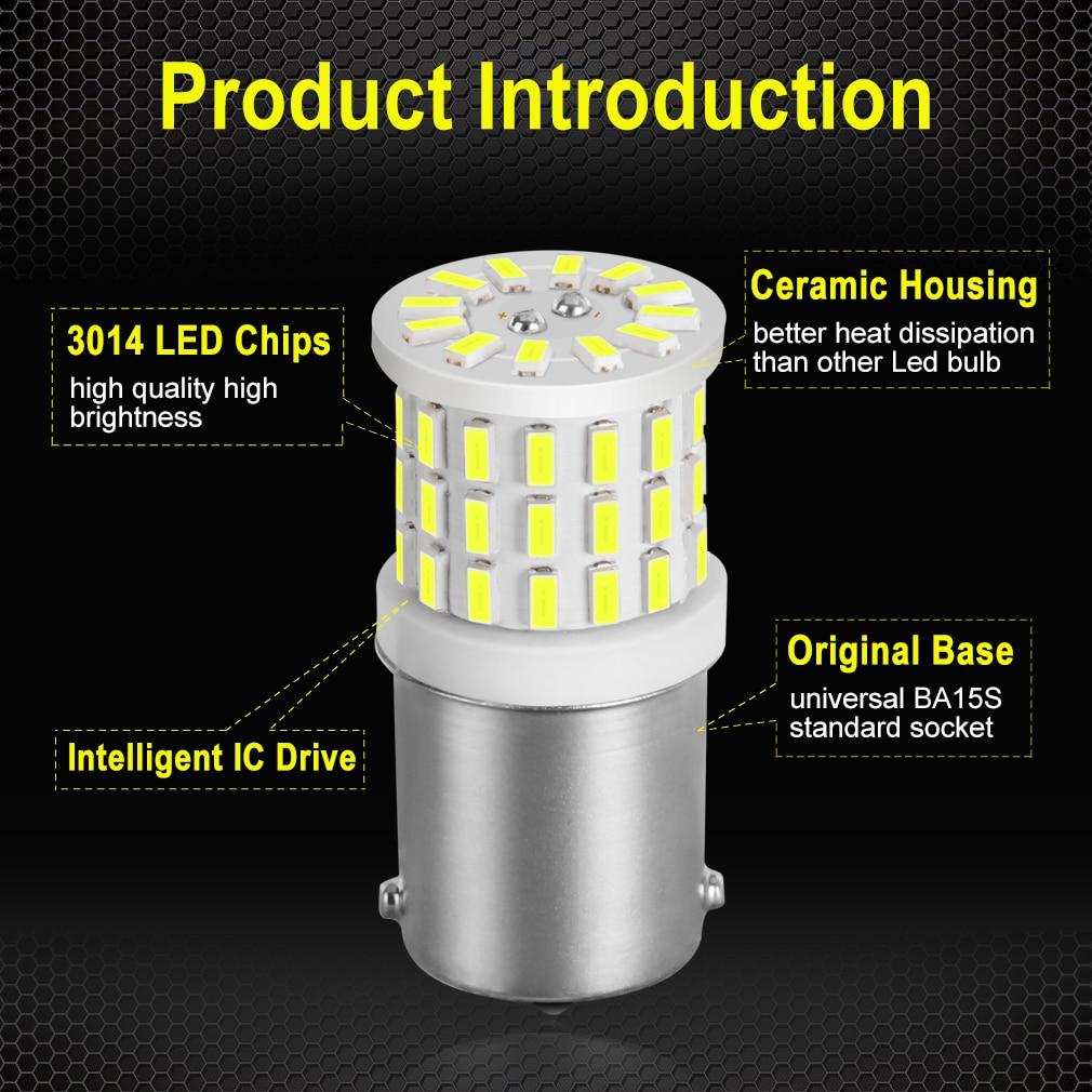 Super Bright 1156 P21W LED BA15S 1157 P21/5W BAY15D LED Car Lights Reserve Lamps Auto Brake Bulb car Signal light 12V White