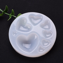Lovely 3D Silicone Resin Mould Big and small heart handmade DIY Jewelry Making tool epoxy necklace pendant resin