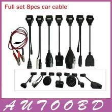 Новый Полный Комплект 8 Автомобилей Кабелей Автомобиля Для TCS CDP Pro plus CDP Части Канатной диагностический Инструмент Интерфейс OBD2 OBDII кабель
