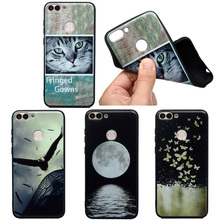 Cute Print Phone Case For Huawei P30 PRO P20 P8 LITE Y5 Y6 Y7 PSmart Soft TPU Silicone Cat Back Cover Animal Cases Coque Matte