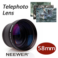 Neewer 58mm 2X Telephoto Lens for Canon Nikon Olympus Sony Pentax Samsung and Other DSLR Camera Lenses with 58MM Filter Thread