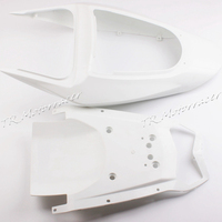 For Kawasaki Ninja ZX6R 636 2003 2004 Unpainted Plastic ABS Rear Tail Fairing Motorcycle Accessories New