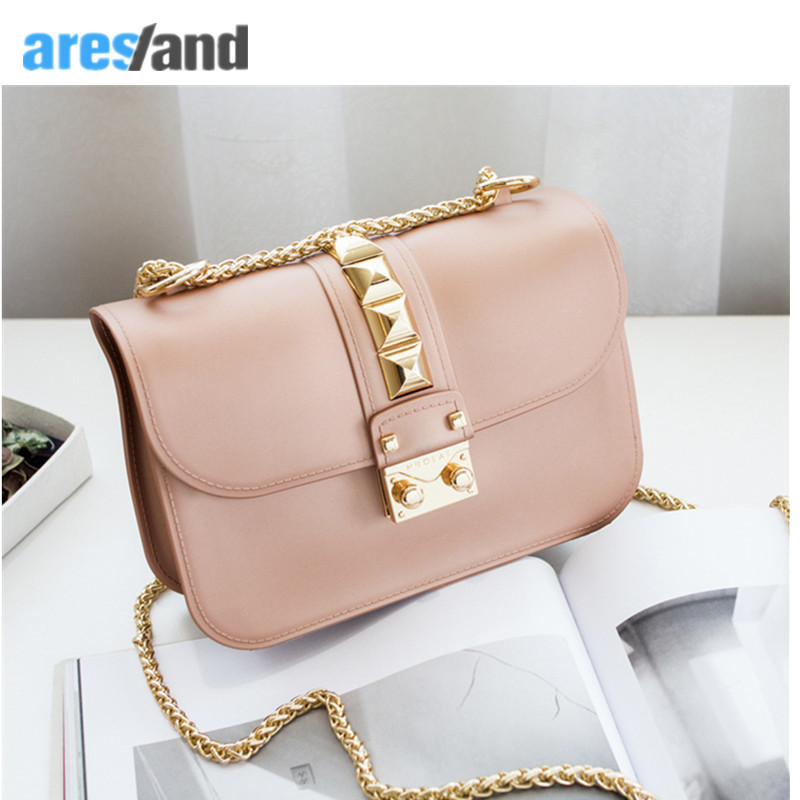 Aresland 2017 New Fashion Women Handbag Bag Women's Handbags Chian Bags Shoulder Crossbody Bag Revit Flap Bolsas  Bolsa Feminina women floral leather shoulder bag new 2017 girls clutch shoulder bags women satchel handbag women bolsa messenger bag