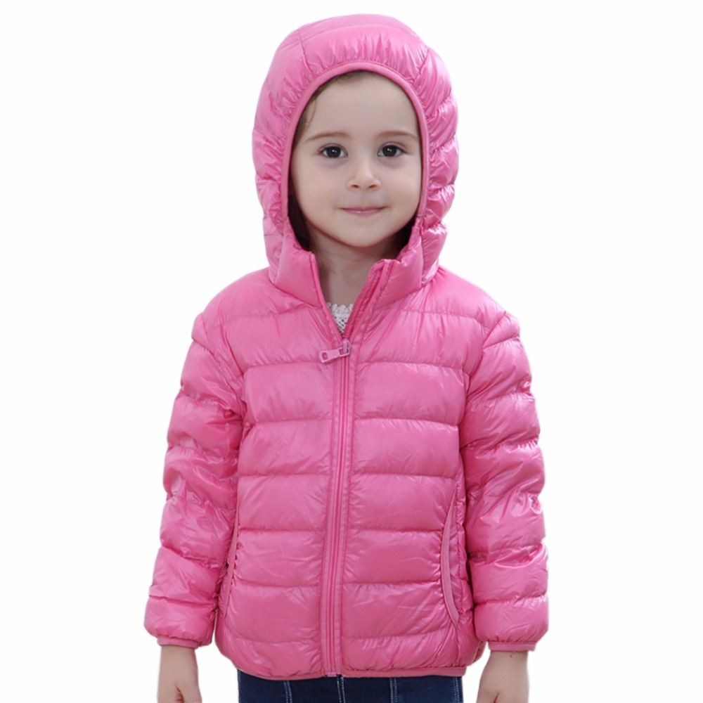 Tengo Brand de copii de iarna Ultra Light Down Jacket 90% White Duck jos Parka Jacket Hooded Coat Girl și Boy Jacket Parka