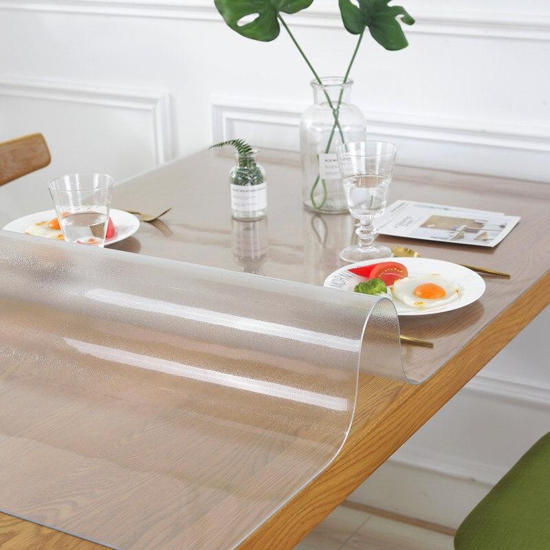 PVC Transparent Verre Nappe imperméable Huile Anti-Table ronde couvercle decor