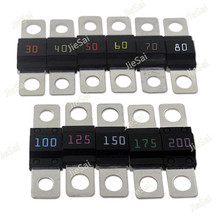 5 Pcs Screw Type Fuse Inserts Car Insurance Tablets High Current Fuses Fuse Holder 30A 40A