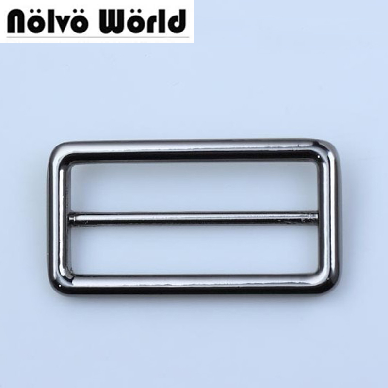 10pcs 5 Colors 5cm 2 Inch Sewing Craft Fasteners,Round Edge Buckle Strap Adjuster Welded Tri-glide Buckles