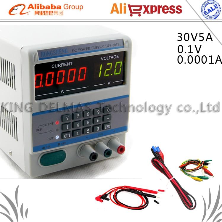 цена на DPS-305BF Digital Control 30V 5A 0.1V/0.0001A keypad Digital Programmable Adjustable DC Power Supply for Laptop Repair 220V/110V
