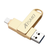 Kismo usb tipo-c pen drive usb3.0 disco flash otg pen drive para samsung s8 s9 a3 a5 a7 2017 oneplus 5 5 t 6 xiaomi mi6 mi8 5x