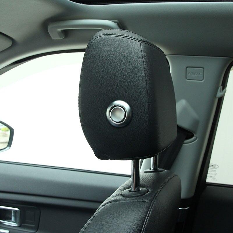 Prix pour Pour Jaguar XF/XFL XE F-PACE Accessoires ABS Chrome Headpillow Réglage Décoration Bouton Cover Version Car Styling
