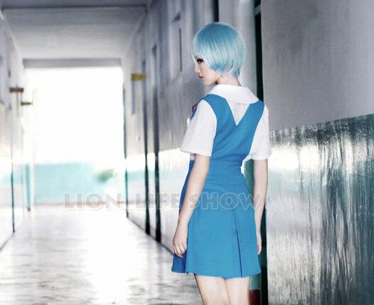 Синий Хэллоуин Японский Аниме Евангелион EVA Косплэй костюм Ayanami Rei Сорю Аска форма