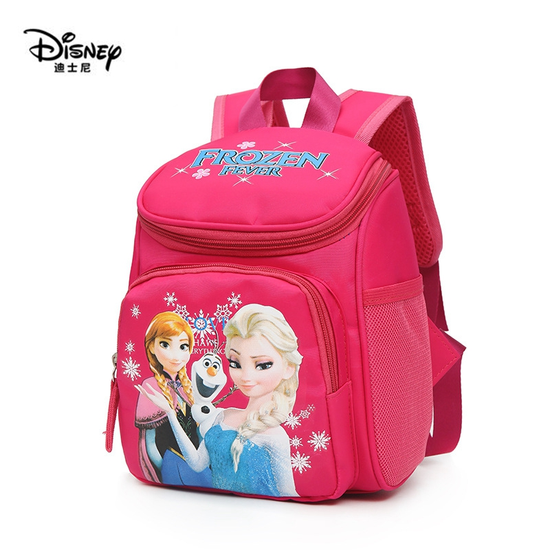 Disney Children's Cartoon School Bag 2-5 Years Old Kindergarten Cute Baby Girls FrozenSpiderman Iron Man Princess Mini Backpack