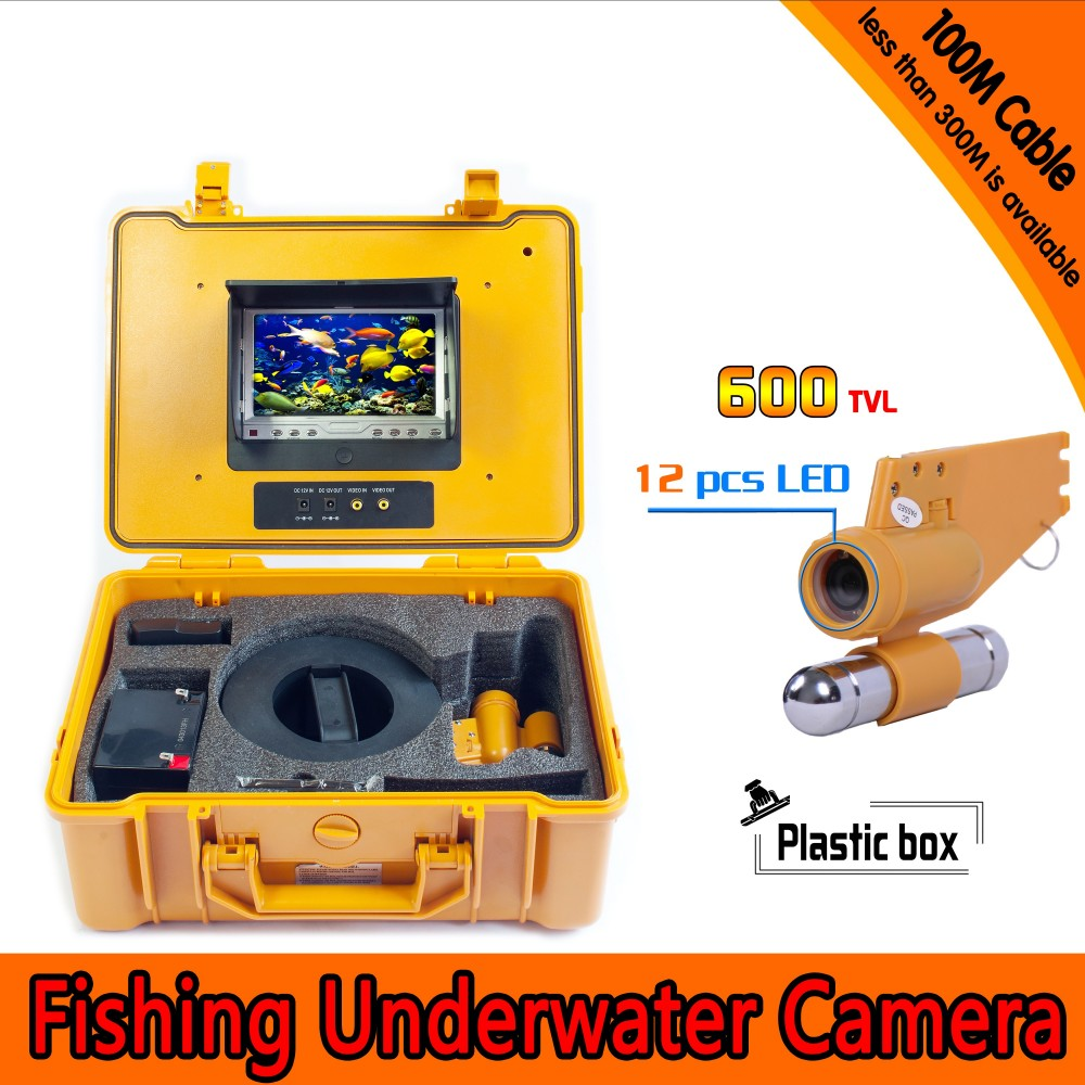 Underwater Fishing Camera Kit with 100Meters Depth Single Lead Bar & 7Inch Color TFT Display Monitor & Yellow Hard Plastics CaseUnderwater Fishing Camera Kit with 100Meters Depth Single Lead Bar & 7Inch Color TFT Display Monitor & Yellow Hard Plastics Case