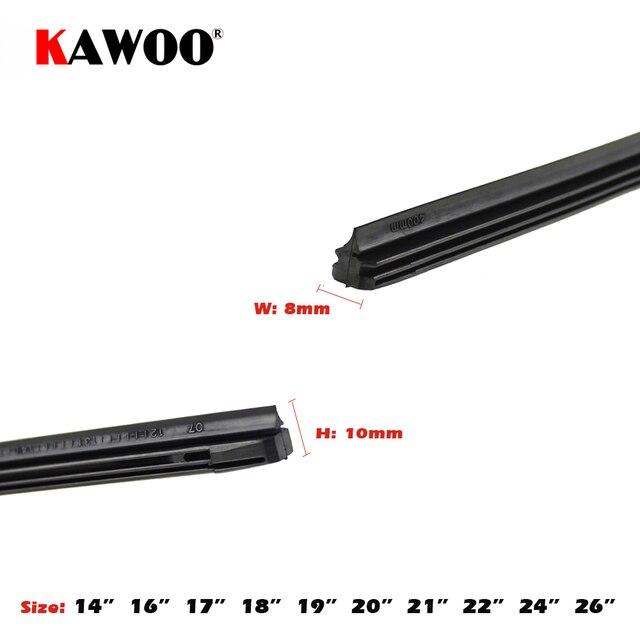 """KAWOO voiture véhicule insérer bande de caoutchouc lame d'essuie-glace (recharge) 8mm doux 14 """"16"""" 17 """"18"""" 19 """"20"""" 21 """"22"""" 24 """"26"""" 28 """"1 pièces accessoires 2"""