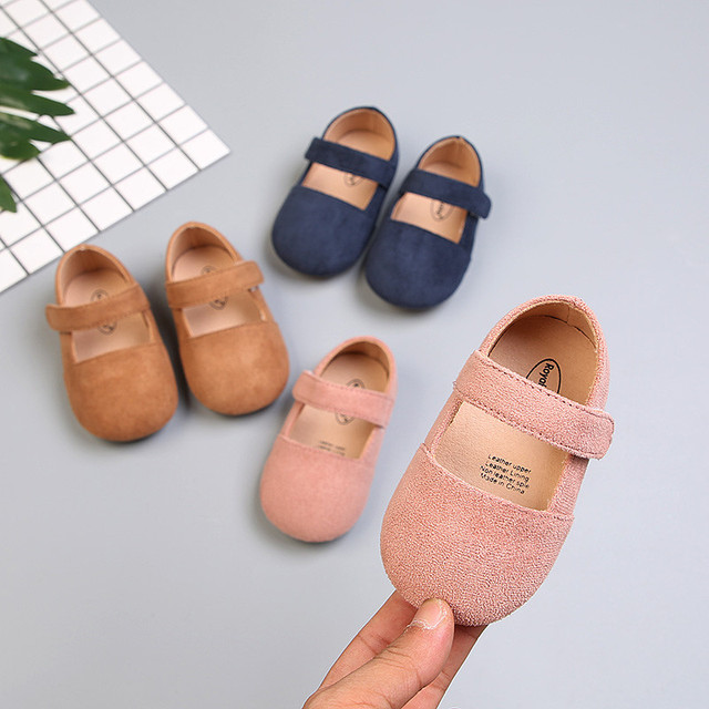 2018 New Baby girl shoes Solid Girls Princess Shoes for Party and Wedding Pink Toddler Baby Shoes 2 years